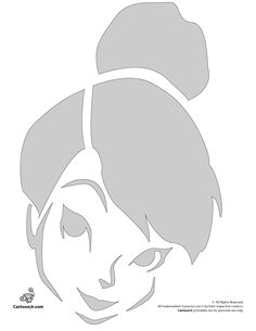 Tinkerbell Disney Fairy Pumpkin Carving Pattern