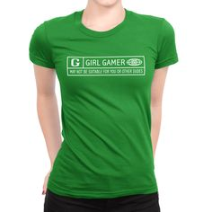Are you Rated G? Show your gamer skills, lets the guys know you're a hardcore GAMER! Printed on 100% combed ring-spin cotton fine jersey, Pre-shrunk 4.3 oz, 1x1 baby rib-knit set-in collar. Garment co
