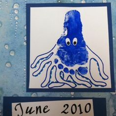 June Octopus Footprint Art
