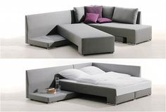 LOVE!  CLEVER SOFA BED SYSTEM | BY DIE COLLECTION | Image http://www.die-collection.de/en/22/franz-fertig/suites/vento.html=1