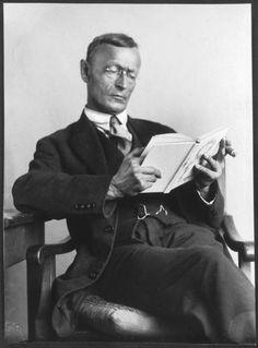 Hermann Hesse reading.