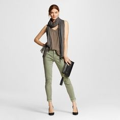 Women's Mid-rise Jegging Olive (Green)