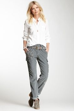 Embroidered Corduroy Cargo Pant by Da-Nang on @HauteLook