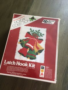 Items similar to Vintage 1980 Christmas Latch Hook Kit Rug Wall Hanging Shag Holiday Collection National Yarn Crafts Bells Retro New In Package on Etsy, Craft Bells, Latch Hook Rug Kits, Christmas Bells, Rug Hooking, Yarn Crafts, Craft Fairs, Retro, Handmade Gifts, Holiday