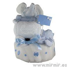 """Tarta de Pañales """"Grand Éléphant Cake"""" disponible en http://www.mifmif.es"""