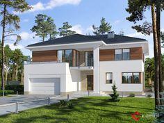 E-149 Dom parterowy z przestrzennym salonem, na wąską działkę - E-DOMY.pl Projekty domów jednorodzinnych, piętrowych, energooszczędnych.