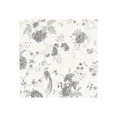 Graham & Brown Julien Macdonald Exotica White & Silver Floral & Birds Vinyl Effect Wallpaper | Departments | DIY at B&Q