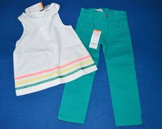 NWT Gymboree 3T Girl's Two Piece Teal & White Outfit Set #Gymboree #DressyEveryday