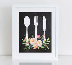 Kitchen Art Print Kitchen Wall Decor  Instant Download
