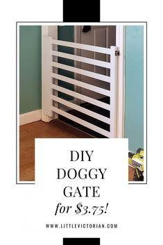 Diy Dog Gate, Diy Gate, Diy Baby Gate, Baby Gates, Dog Gates For Stairs, Stair Gate, Puppy Gates, Doggie Gates, Puppy Room
