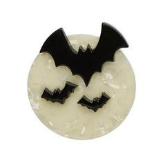 All Hallows Eve Brooch Erstwilder Halloween 2016 Kitsch, Pinup, Bat Silhouette, Cartoon Bat, An Affair To Remember, Cute Bat, Quirky Gifts, Acrylic Resin, In The Tree