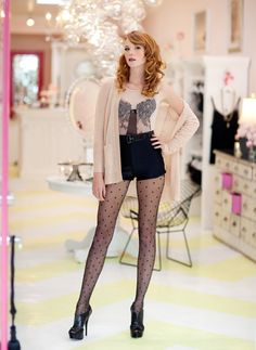 Legs for days ||from $9.50 @amazon http://www.amazon.com/French-Polka-Dot-Tights-Pantyhose/dp/B009E8F6O4/?ref=sr_1_3=UTF8%3D1361515126%3D8-3%3Dpolka+dot+tights