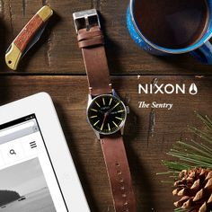 #NIxon: Distinct. A classic look that never goes out of style; only better with age. The Sentry Leather, featured in our new Holiday Gift Guide.