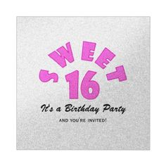 Pretty Pink Sweet 16 Party Invitations #Sweet16 #Invitation