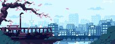 Image result for pixel art city skyline