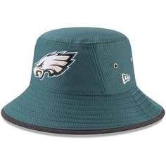 99000efb14a Philadelphia Eagles New Era Youth 2017 Training Camp Official Bucket Hat -  Green -  29.99 https