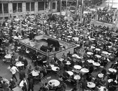 Terasa Cercului Militar, anii '30 Cabaret, City Photo, Bucharest, Military