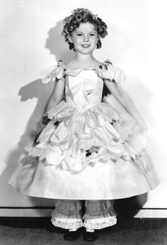 Shirley Temple in costume for The Little Colonel, 1935.