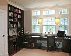Home Office Built-in Desk Design, Pictures, Remodel, Decor and Ideas - page 2