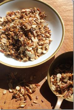 Coconut granola with blood orange infused olive oil.  Recipe on the blog.