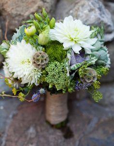 beautiful #wedding #green #bouquet!
