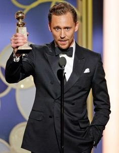 Golden Globes 2017: Tom Hiddleston Wins Best Actor in a Limited Series for The Night Manager. Link: http://people.com/awards/golden-globes-2017-tom-hiddleston-wins-best-actor-limited-series-night-manager/