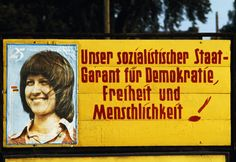 Magnum Photos — Thomas Hoepker — EAST GERMANY. 1975. Poster in East Berlin.