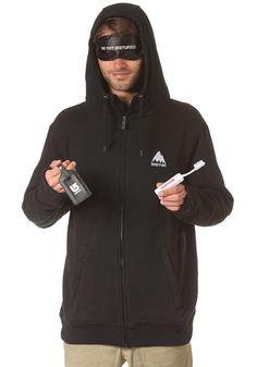 BURTON CSTM Sleeper Hooded Zip Sweat true black #planetsports