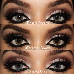 Makeup on different colored eyes