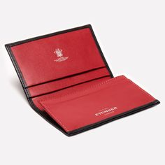 Ettinger London - Luxury Leather Goods - Sterling Visiting Card Case in Red