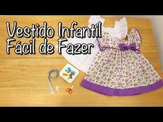 Vestido Infantil Fácil de Fazer - YouTube