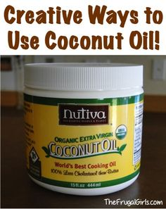 59 Creative Ways to Use Coconut Oil!! ~ at TheFrugalGirls.com #coconutoil