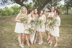 bridesmaids, reception dress, cream wedding. beautifulisolations.com