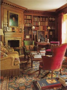 Ideas Home Library Room Victorian Interior Design Beautiful Library, Dream Library, Cozy Library, Library Ideas, Home Interior, Interior Design, Classic Interior, Antique Interior, Interior Livingroom