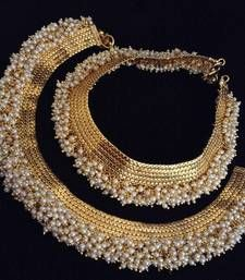 Buy Chandni Pearl Payal Copper traditional Anklet India Bollywood Bridal Jewelry anklet online