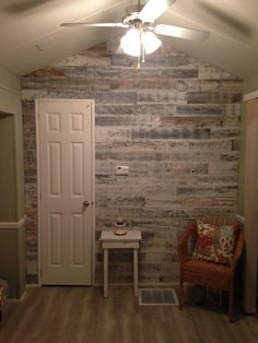 Vinyl Plank Wood Flooring As An Accent Wall For The