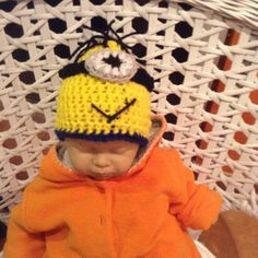 Mütze/Beanie - Minions - gehäkelt
