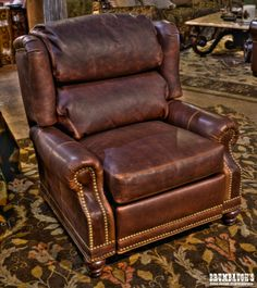 Panhandle Recliner - Rich Leather - Brumbaughs Fine Home Furnishings