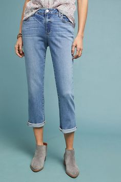 8db58ac3573 Paige Brigitte High-Rise Slim Boyfriend Jeans · Estilo De NovioBoyfriend  JeansVaqueros ...