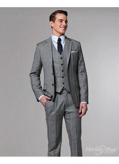 Light grey 3 piece pin strip 1920's style suit
