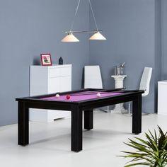 Très belle table de billard de salon avec son drap violet