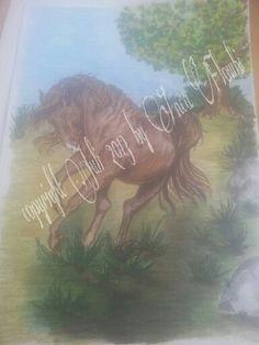 Pferd  DIN A 4 -Hahnemühle Skizzenpapier 190g/qm -Faber Castel Polychromos