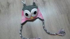 Touca confeccionada em croche modelo coruja. <br> <br>FRETE GRÁTIS SOMENTE PARA SP.
