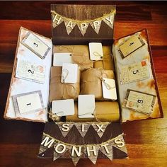 """""""The most recent care pack I made for him. For each month together, a heartfelt explanation of why I like him"""" Thanks for sharing @ceetee55"""