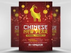 Red & Gold Chinese Flyer Template by FlyerHeroes on