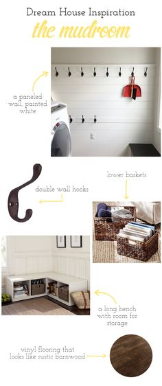 Building A Dream House: Mudroom Inspiration Board