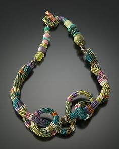 Coil Necklace - Bloomsbury by Julie Powell: Beaded Necklace available at www.artfulhome.com