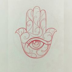 Today tattoo a quick sketch of this hamsa hand gonna be fun#art #tattoo#artist…