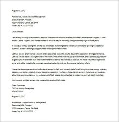 8 letters of recommendation for graduate school free sample example format download