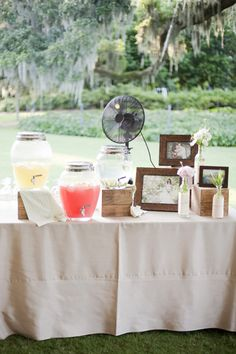 A cool breeze drink station.